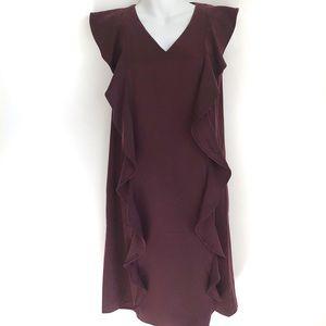 RW&Co. Sleeveless Shift Ruffle Dress
